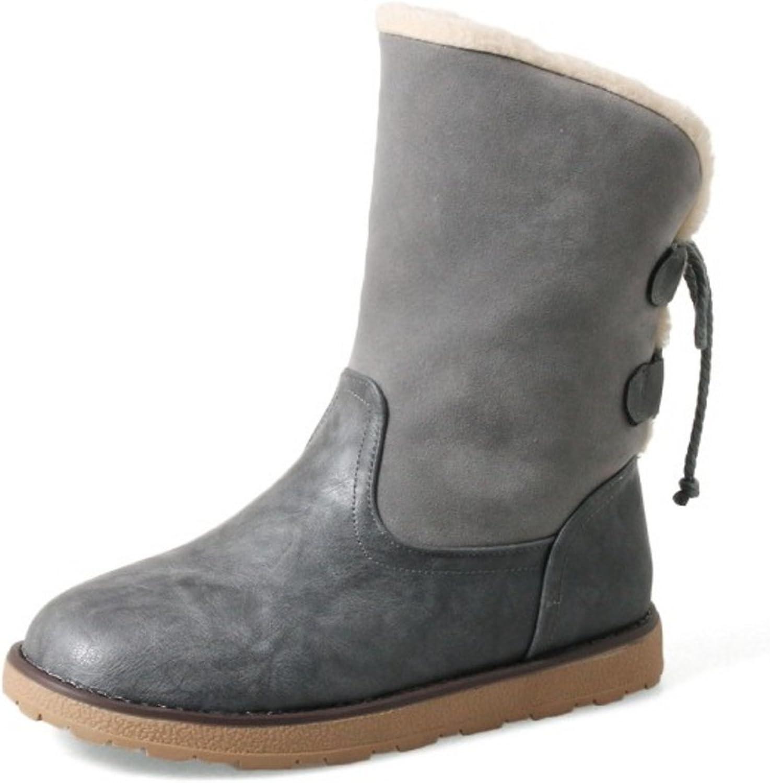 CarziCuzin Women Lace Up Boots Flats