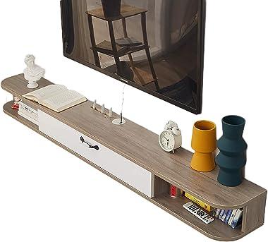 TV Cabinet, TV Lowboard, Floating Shelves, Wall Mounted Media Console, 100/120/140/170cm Solid Wood Ecological Board, TV Livi
