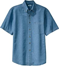 Joe's USA 6.5-Ounce Short Sleeve Denim Shirts in Sizes XS-6XL