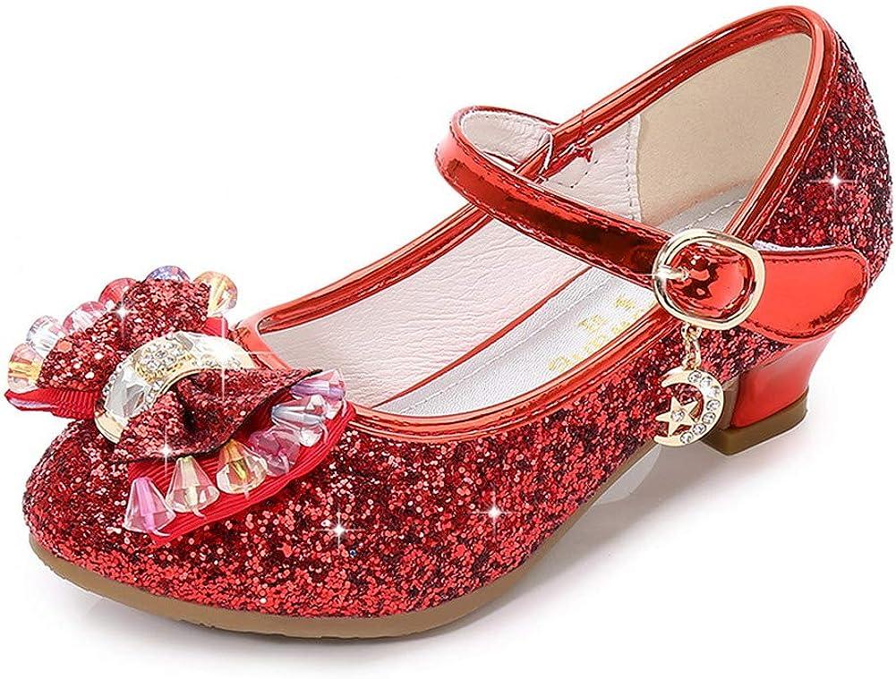 Mowoii Girls Mary security Jane School Dress Heel Shoes Ranking TOP14 Low Part Princess
