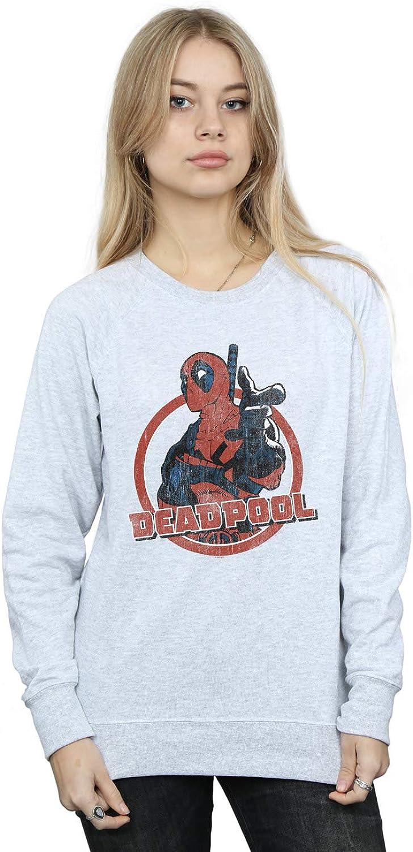 Marvel Damen Deadpool Gun Finger Sweatshirt Sweatshirt Sweatshirt B07HS26ZLN  Das hochwertigste Material 13fb0d