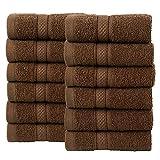 Todd Linens Juego de 12 toallas de cara de bala, de regalo – 500 g/m²,...