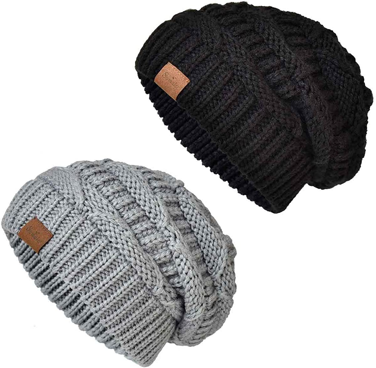 Somaler Knit Beanie Max 55% OFF Hat for Oversize Dealing full price reduction Women Winter Chunky Slouchy
