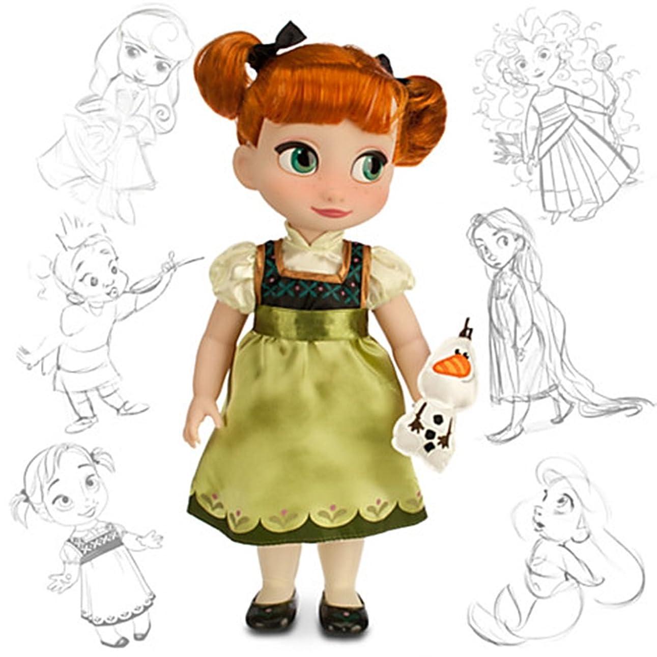 喉が渇いた交響曲アフリカ人Disney USディズニー公式アナと雪の女王 アナ オラフ付 人形 アニメーターコレクションドール フィギュア 並行輸入品