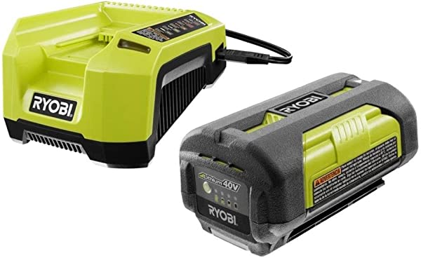 Ryobi OP4026 40 Volt Lithium Ion Battery And OP400A 40 Volt Lithium Ion Charger Renewed