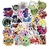 100pcs/pack Japanese anime Digital Monster Stickers For Notebook Motorcycle Skateboard Computer Mobile Phone Cartoon Toy Etc
