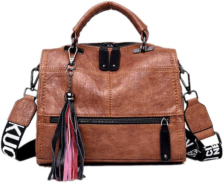 Umhängetaschen Damen Tasche Modetrend Retro Retro Retro Einfache Reine Fransen-Anhänger-Handtasche Schräge Spreiztasche Gelb B07PYRNMMP  Ausgezeichnete Leistung 7ea445