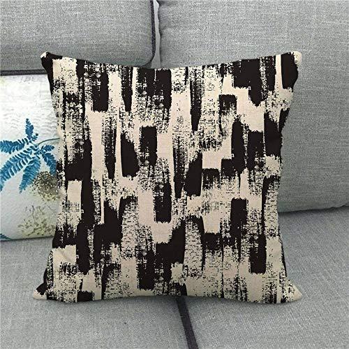 LPLH Symmetrical Geometric Checkerboard Lattice Plus Linen Pillowcase Pillow Pillowcase 1504-17_45*45cm