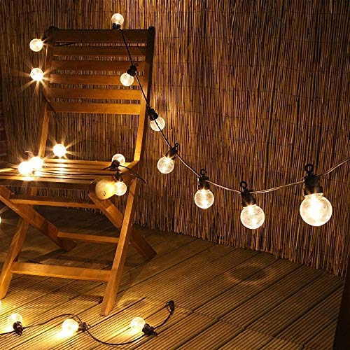 WFBD-CN 25 Bombillas LED al Aire Libre de Hadas Wateproof conectables Adorno de Navidad Luces de Calle decoración de Fiesta al Aire Libre de la Boda (Style : 15M 20Bulbs)