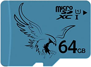 BRAVEEAGLE Micro SD Card 64GB Class 10 U1 microSDXC Memory Card SD Card High Speed for Galaxy Note/Tablet/GoPro (64GB U1)