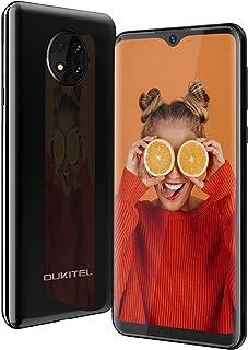 OUKITEL C19 SIMフリースマートフォンAndroid 10.0 4GデュアルSIM携帯電話6.49インチ4000mAhバッテリーフェイスアンロック13MP + 2MP + 2MP 3眼カメラ 1 黒