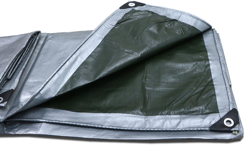 LIANGLIANG Tarpaulin Waterproof Heavy Duty Sheet Shade Balcony Predection Truck Multipurpose Metal Buttonhole Plastic PE, 22 Sizes
