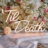 Divatla Special Til' Death Neon Sign, 5v USB Power. Warm White Nice Looking Neon Light with Dimmable Switch.
