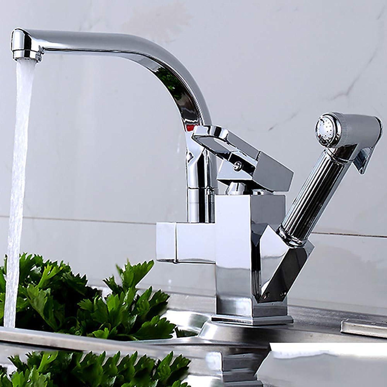 Wasserhahn Ausziehbarer Wasserhahn Warme Und Kalte KüChenspüLe Teleskop Drehbare SpüLe Waschbecken Wasserhahn,A