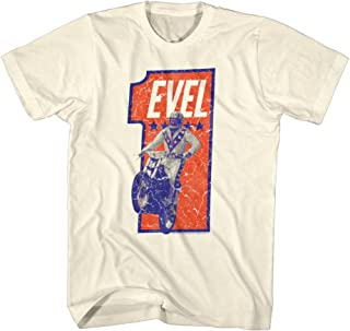 Evel Knievel Numbah One Adult T-Shirt Tee