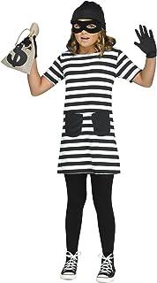 Fun World Big Girl's Miss Burglar Children's Costume, Multicolor, XL