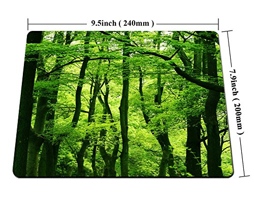 Smooffly Green Forest Mouse Pad,Tropical Rainforest Trees Mouse Pad,Beautiful Fresh Green Forest Personality Gaming Mouse Pad Photo #5
