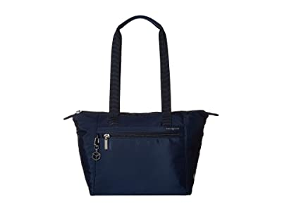 Hedgren Megan RFID Medium Tote (Dress Blue) Tote Handbags