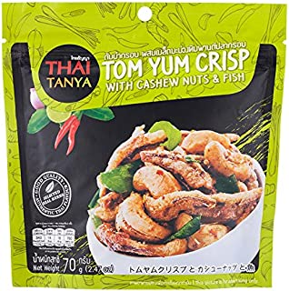 Thai Tanya, Tom Yum Crisp with Cashew Nuts & Fish, 70 g [Pack of 3 pieces]