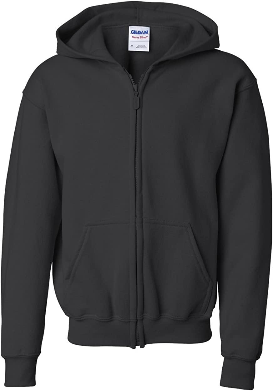 Heavy Blend Full Zip Hooded Sweatshirt (G186B) Black, S (Pack of 12)