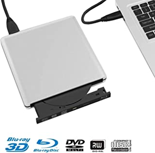 External Blu Ray Drive for Laptop, Ultrathin USB3.0 Portable Blu-Ray 3D Writer Burner Player for Mac os, Windows 7/8/10