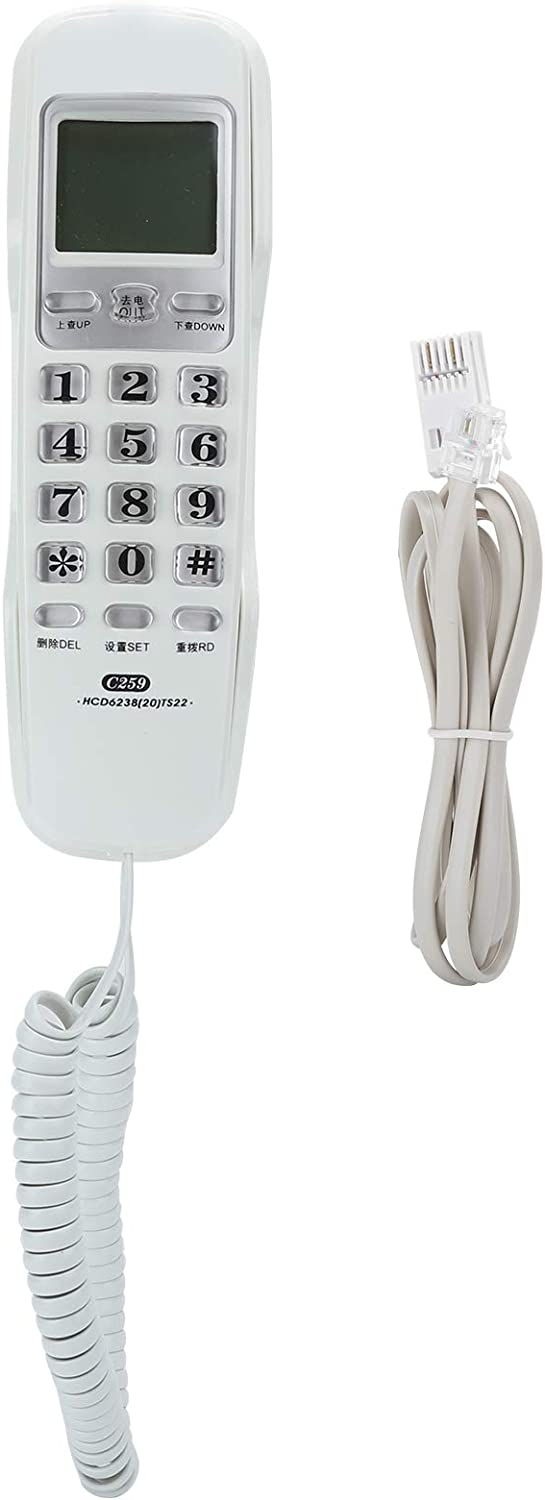 Wall Mounted National products Home Landline with Long-awaited a Corded Phone Dial Wired Teleph