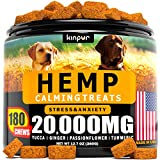 Hemp Dog Chews and Calming Treats for Dogs with Anxiety and Stress - Natural Calming Aid - Separation - Fireworks - Storms - Aggressive Behavior - 180 Calming Chews for Dods for Hip and Joint Health