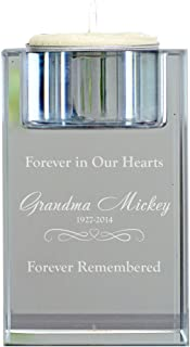 GiftsForYouNow Personalized Memorial Candle Holder, 3