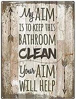 このバスルームを清潔に保つ金属ブリキ看板ホーム装飾壁アート