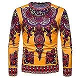 Luckycat Herren Herbst Winter Casual afrikanischen Stammes Dashiki Langarm Pullover...
