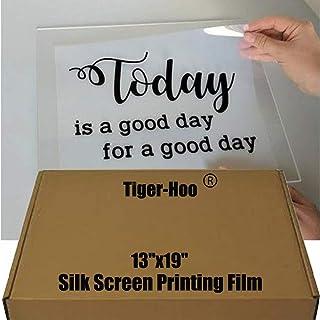 "$54 » 13""x19"" Waterproof Inkjet Transparent Film 100 Sheets Screen Printing Film for Water-based Pigment and Dye Printers"
