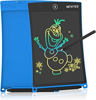 NEWYES Tableta de Escritura LCD a Color, Pizarra Digital, Tablet para Dibujar para Niños 8.5 Pulgadas (Azul)