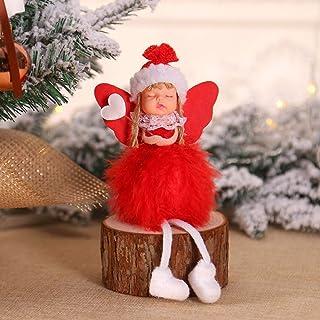 ZHAOZX Christmas Angel Dolls Xmas Tree OrnamentFeliz Navidad Decoraciones para El Hogar De Año Nuevo
