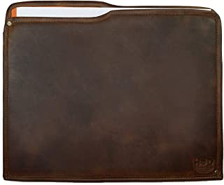Hide & Drink, Rustic Leather Manila Folder, Document Holder/Office & Work Essentials Handmade, Includes 101 Year Warranty :: Bourbon Brown