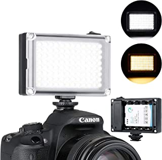 Ulanzi Rechargeble 96 Led Video Light, Porcket Mini On Camera Led Light with 2500Mah Battery and Magnet Filters for Sony P...