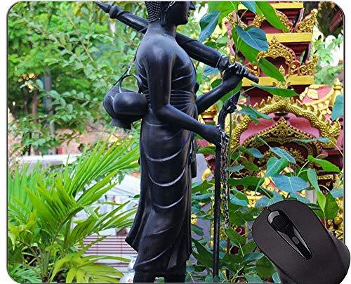 Kundenspezifische ursprüngliche Leopard-Reihen-Mausunterlage, Skulptur-große Buddha-Statuen-Gummimausunterlage
