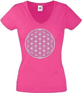 pour la f/ête Carnaval Travail et Loisirs Fleur de larbre de la Vie JINTORA T-Shirt Shirt JDM//Die Cut