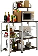 $49 » Beyonds Kitchen Baker's Rack Utility Microwave Oven Stand Storage Cart Workstation Shelf with Basket Large Size Black