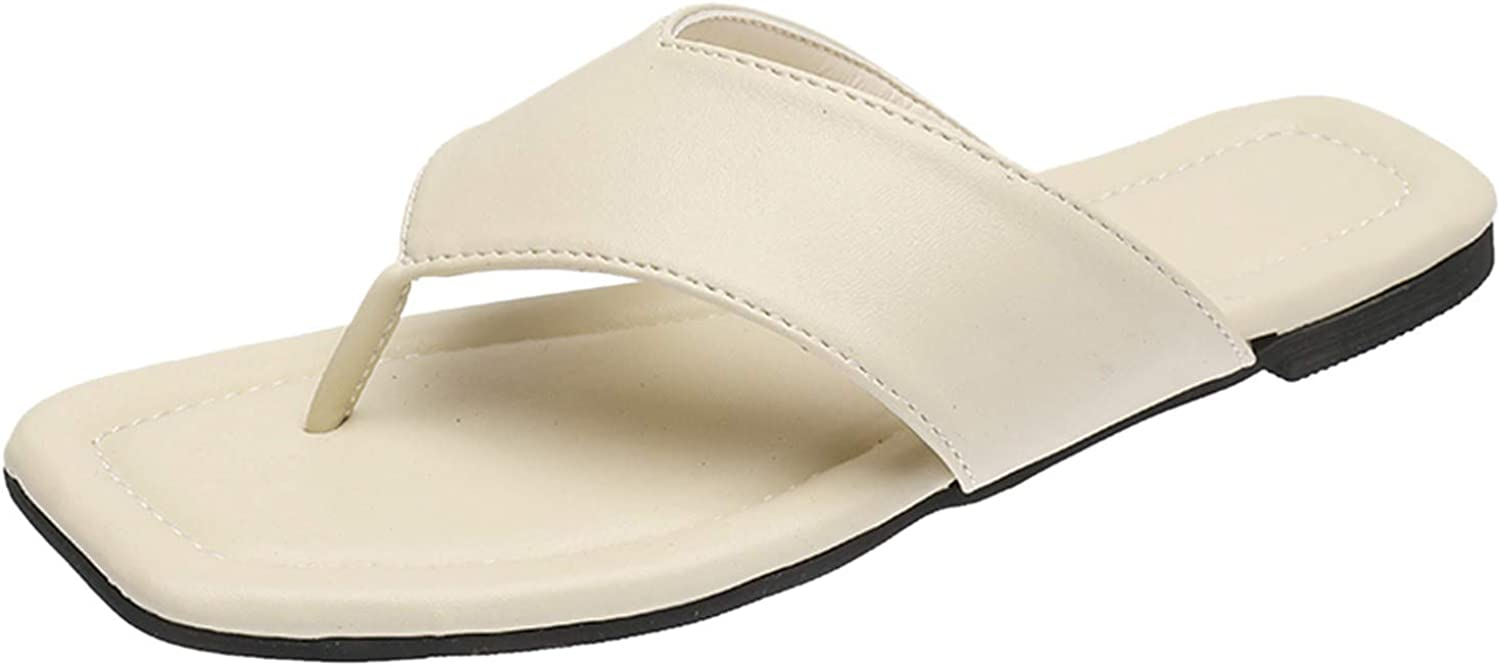 Sandals for Limited time cheap sale Women security Dressy Casual Simple Flat Flip-Flops Cl