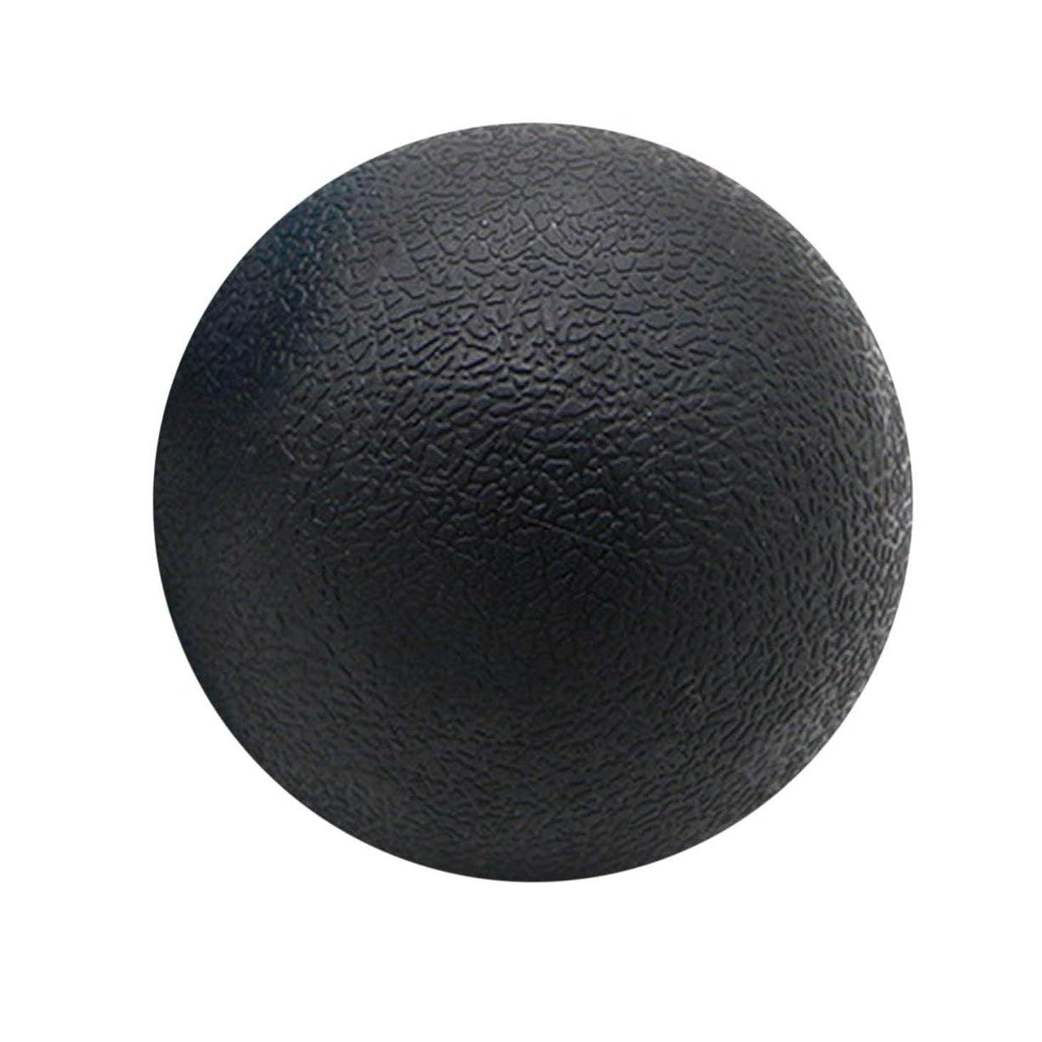清めるグリップ禁止するフィットネスリリーフジムシングルボールマッサージボールトレーニングフェイシアホッケーボール6.3cmマッサージフィットネスボールリラックスマッスルボール-ブラック