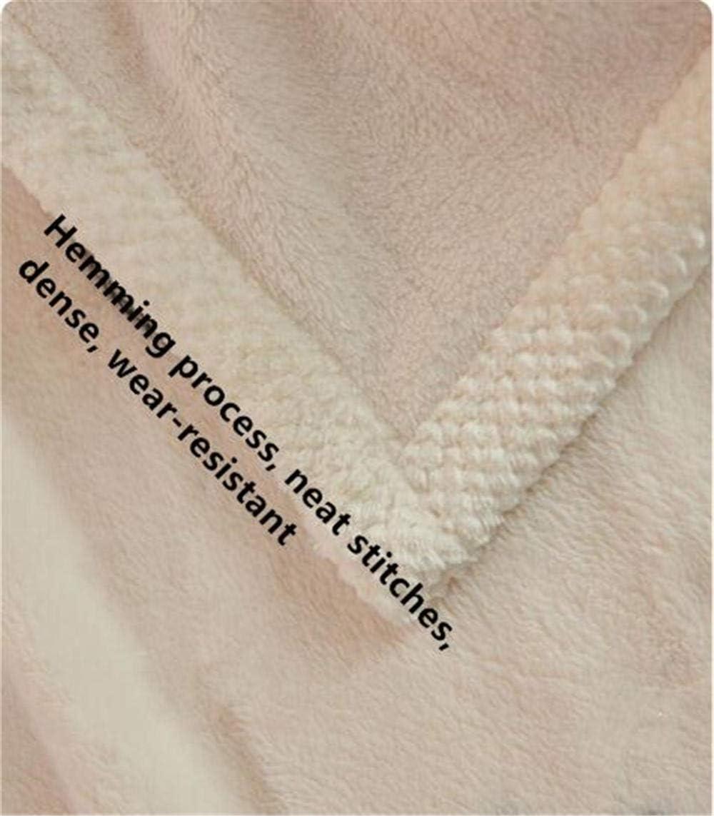 Zwyzspd Couvertures et Plaids 59X78 Pouces Bande Épaissir Couverture De Lit Doux Chaud Climatisation Écharpe Adultes Enfants Literie Pondérée Couette Pique-Nique Jeter (B) (D)