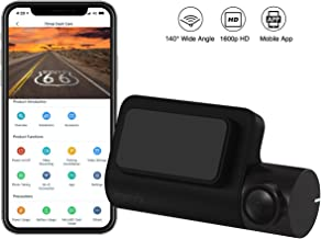 70mai Mini Dash Cam, 2K Dash Cam Recorder Camcorder, 1600p, Parking Monitor, Defogging WDR, Night Vision, 140° Wide Angle, G-Sensor, Loop Recording, Motion Detection, App WiFi (2020)