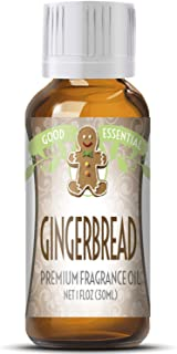 Gingerbread Scented Oil by Good Essential (Huge 1oz Bottle - Premium Grade Fragrance Oil) - Perfect for Aromatherapy, Soaps, Candles, Slime, Lotions, and More!