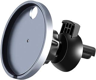 [ECO PLUS] Magsafe 充電器 専用 車載ホルダー スマホスタンド 2in1 粘着ゲルシート&エアコン吹き出し口式兼用 高級合金 片手操作 取り付け簡単 360度回転可能 iPhone 12/12Pro/12 Mini 対応 (M...