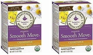 Traditional Medicinals Smooth Move Senna Herbal Stimulant Laxative Tea, Chamomile, Net WT 1.13oz (Pack of 2)