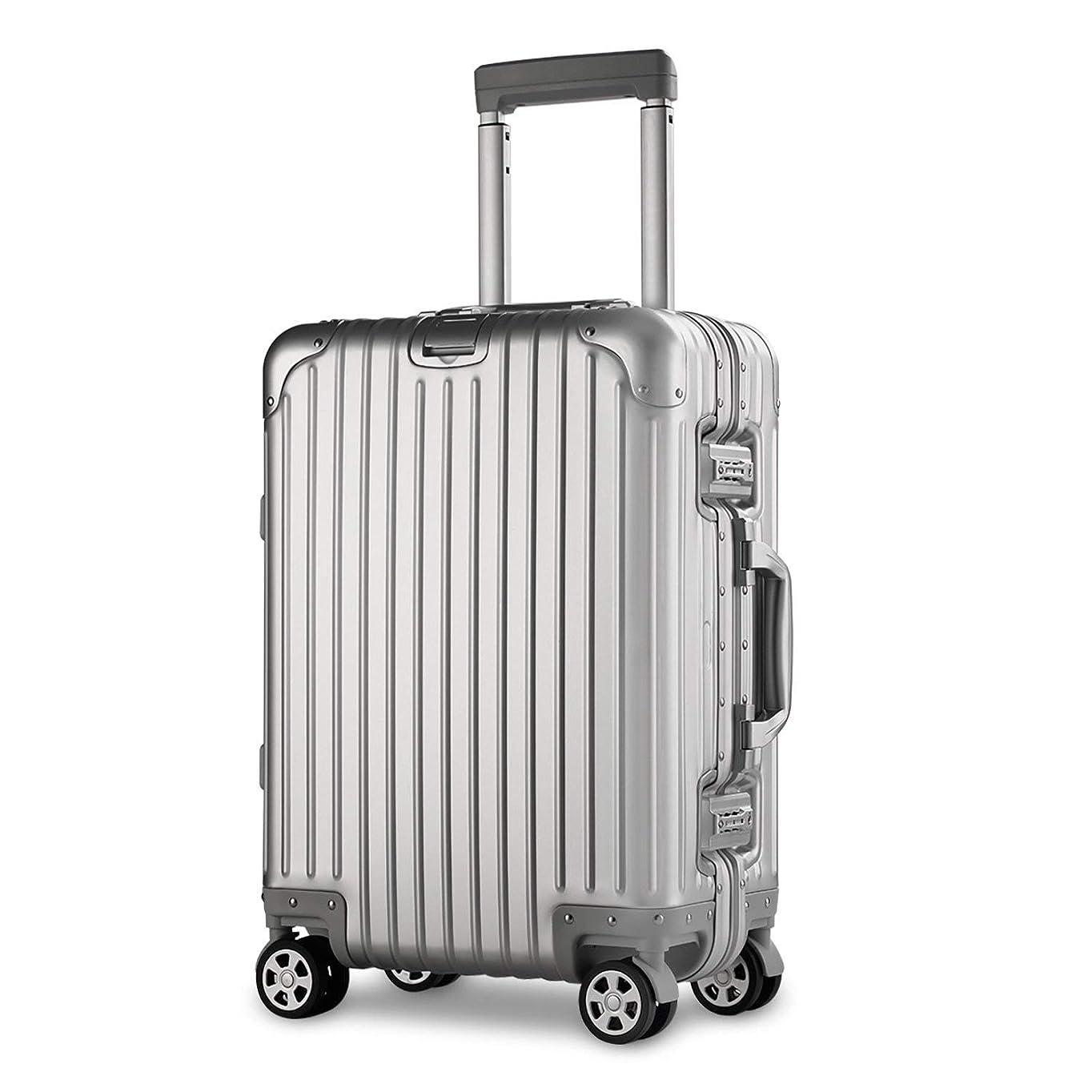 出来事割合フィルタ【XDJ Life】 スーツケース アルミマグネシウム合金 キャリーバッグ ダブルキャスター?静音 キャリーケース TSAロック搭載 フレームタイプ ドイツ製カバー付き 軽量 機内持込