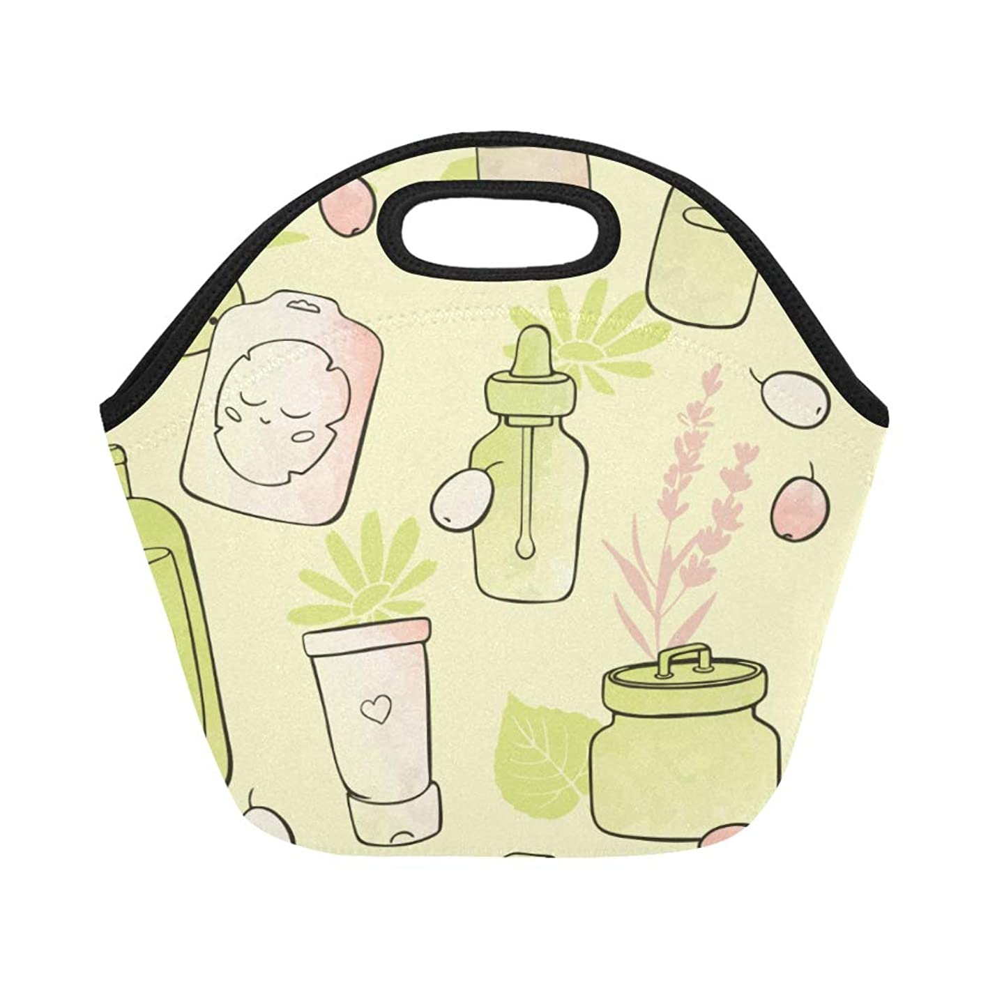 Insulated Neoprene Lunch Bag Skin Care Products Hand-painted Beauty Large Size Reusable Thermal Thick Lunch Tote Bags For Lunch Boxes For Outdoors,work, Office, School wylwrqudhvv398