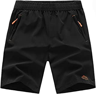 TBMPOY Men's Outdoor Sports Quick Dry Workout Running Shorts Zipper Pockets