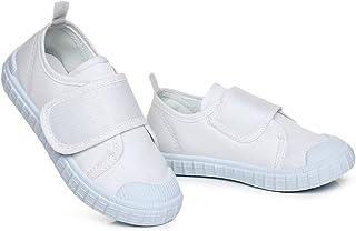 [XINXIKEJI] 子供靴 女の子 男の子 内寸15.4-24cm スニーカー 履きやすい 滑り止め 通気 軽量 柔らかい 足に優しい 可愛い 室内/室外 学校 上履き 運動靴 キッズシューズ ホワイト 白 3タイプ選べる