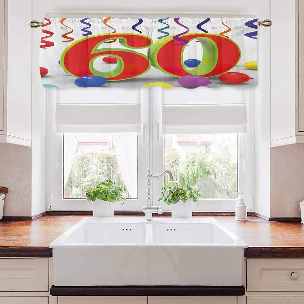 carmaxs 58th Birthday Window Treatments, Party Confetti Swirls w
